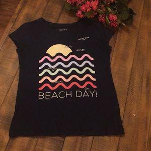 Gap navy t-shirt girls size M 8 EUC